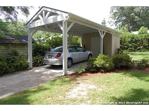detached carport driveway  bowen leads  detached carport  large storage room car