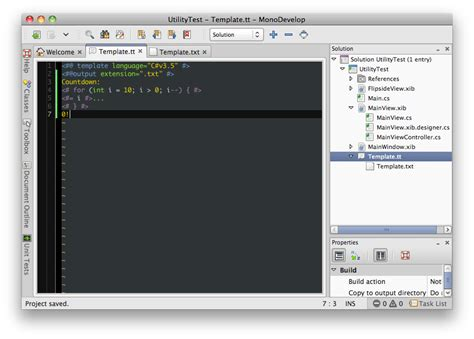 t4 template t4 templates in monodevelop mhut ch