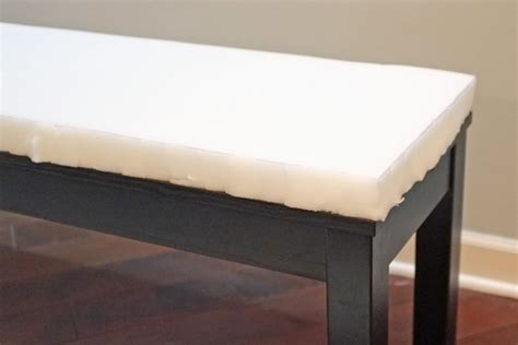 foam to make bench cushion easy bench slipcover