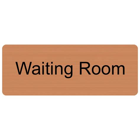 waiting room signs waiting room engraved sign egre 640 blkoncpr wayfinding room name