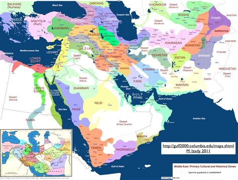 middle east map ethnic cultural and historical zones map of the middle east the