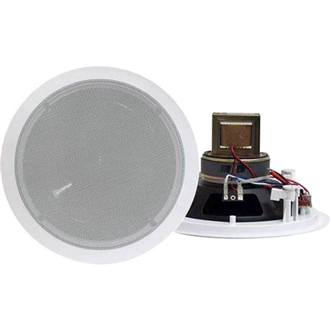 pyle 6 5 in 250 watt 2 way in ceiling speaker with 70