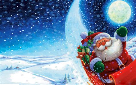 happy  year wishes  santa claus christmas postcard  wallpaperscom