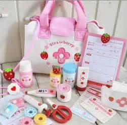 pink wooden toy kitchen mother garden children