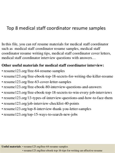 Loss Mitigation Resume Summary by Top 8 Staff Coordinator Resume Sles
