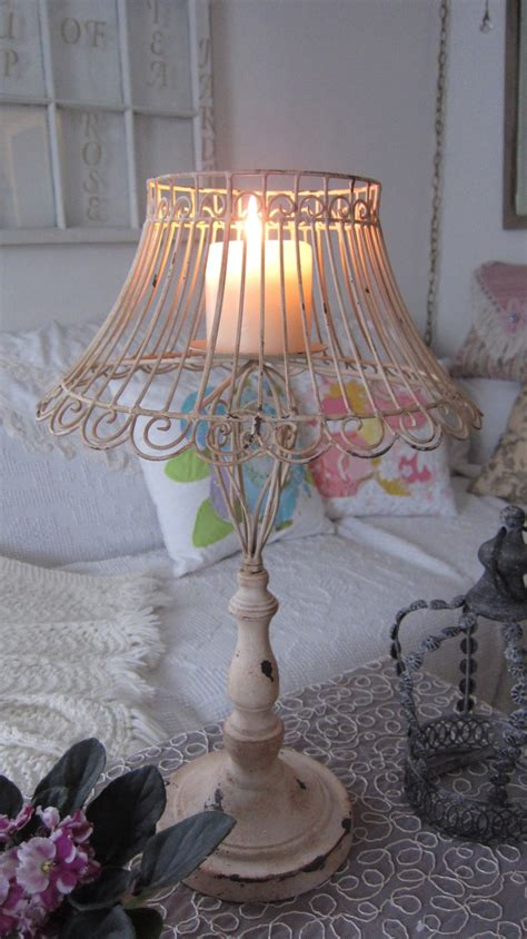 wire lamp with a candle decor pinterest shabby