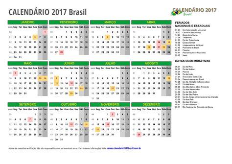 Calendarios De Calend 193 2017 Para Imprimir Feriados