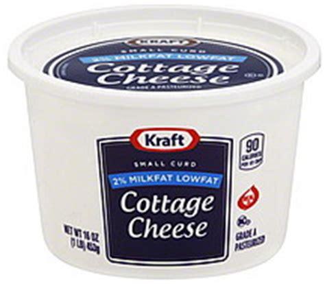 kraft cottage cheese kraft cottage cheese small curd 2 milkfat lowfat 16 0 oz