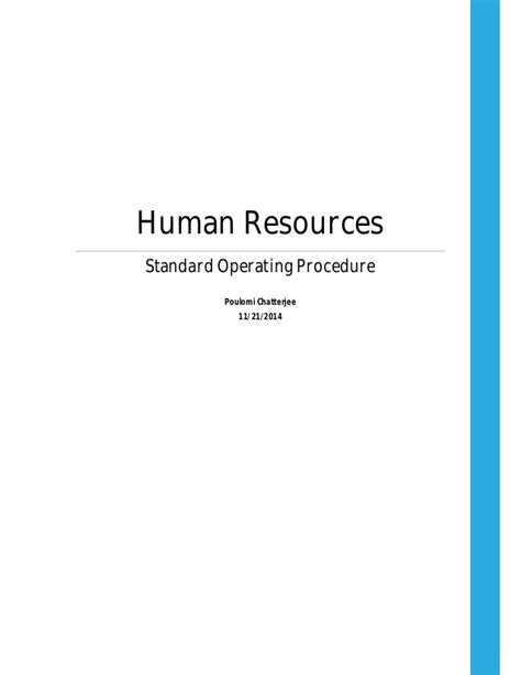 hr standard operating procedure