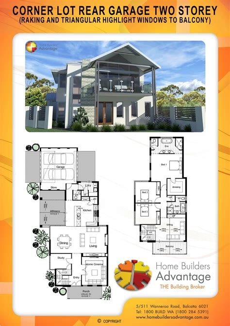 house plans to take advantage of view home builders advantage corner lot two storey home with