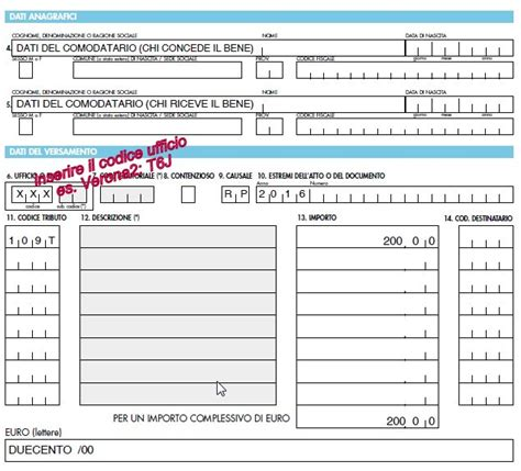 codice ufficio agenzia entrate gorgonzola il modello f23 per la registrazione comodato
