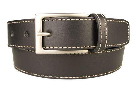 stitched belt top quality leather made in uk belt
