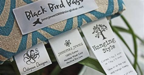 soft satin ribbon labels for sewn knitted