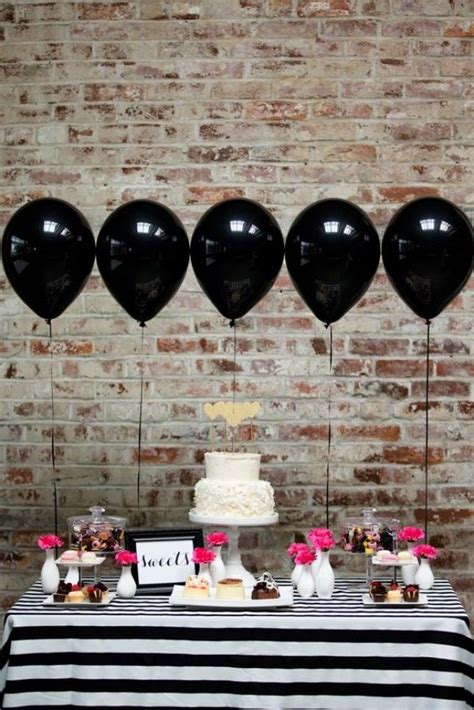 bridal shower themes with black and white kate spade bridal shower ideas galore b lovely events