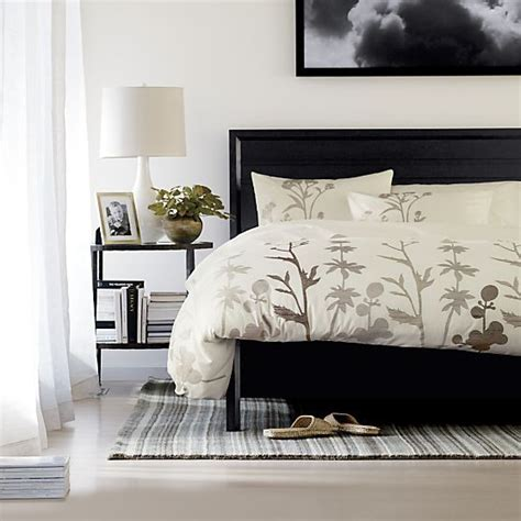 crate barrel bedding woodland natural duvet covers and pillow shams bed