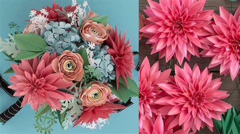 How To Make Paper Flower Bouquet - how to make a paper flower bouquet dahlia