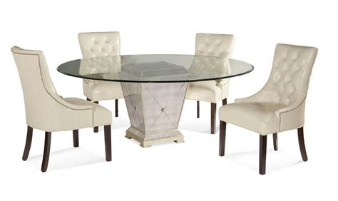 Borghese Round Dining Set (Antique Mirror & Silver Leaf