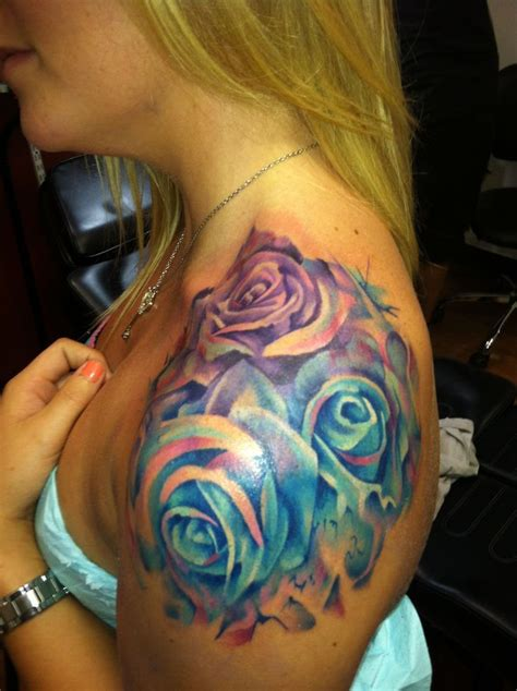 colorful rose tattoos 17 best ideas about purple tattoos on