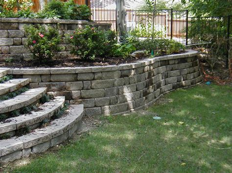 backyard retaining wall retaining walls d m terrill concrete contracting inc
