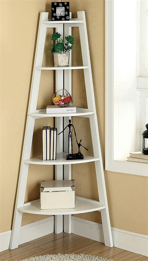 corner ladder shelf white woodworking projects plans