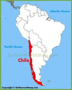 map of chile south america chile location on the south america map