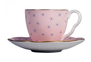 Swiss Knives Kitchen wedgwood polka dot tea story coffee cup and saucer pink