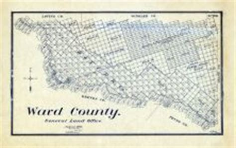 ward county texas map historic map works residential genealogy