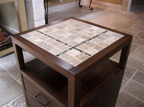 how to a tile table top white rhyan end table or nightstand modified with