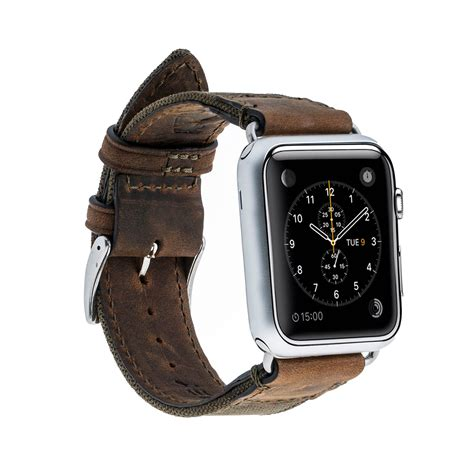 Monochrome Leather Band For Apple 38mm 10 sport leather canvas band apple 38mm