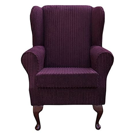 small fabric armchair small westoe wingback armchair in a jumbo cord mulberry