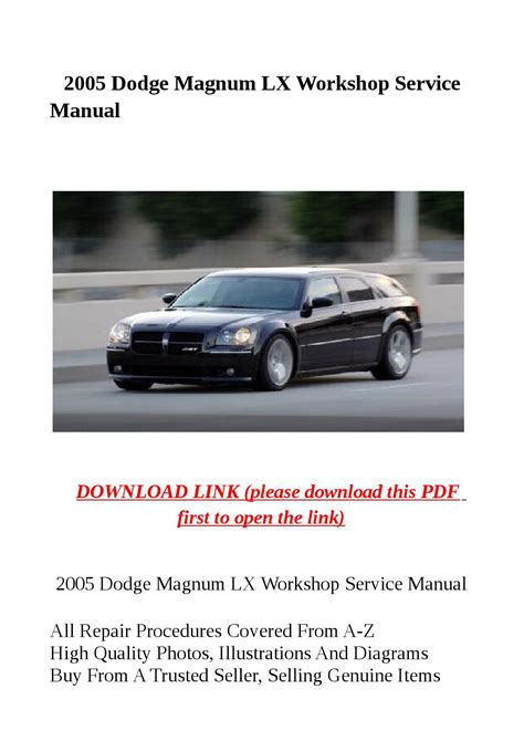 small engine repair manuals free download 2002 dodge ram 3500 engine control 2005 dodge magnum lx workshop service manual by herrg issuu
