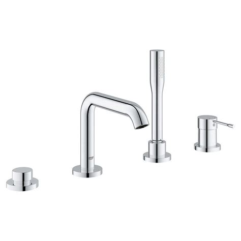 grohe essence new single handle deck mount tub