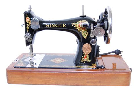 swing machine singer singer 128 antique electric sewing machine w case extras