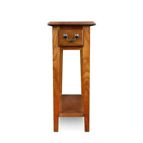 Narrow Side Table Leick Chair Side End Table Medium Oak Finish Narrow End Table