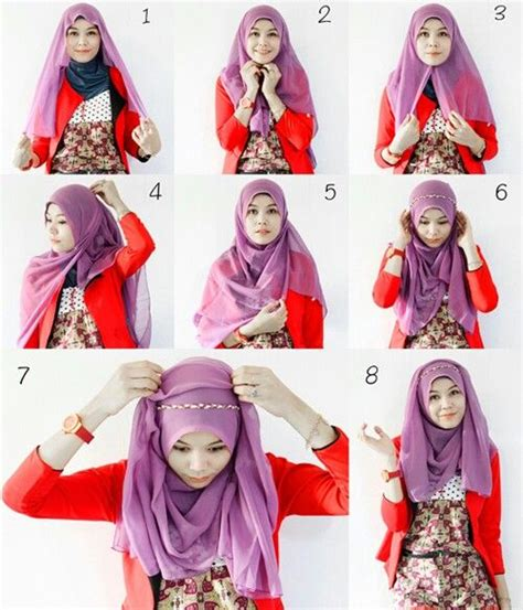tutorial hijab pashmina dengan headband 17 best images about how to wear hijab on pinterest