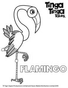 black and white picture of flamingo tinga tinga tales