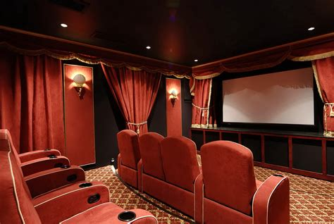 beautiful design home theater curtains