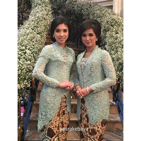 Kain Brokat Warna Ijo hijau pupus kebaya indonesia kebaya