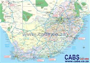 road map of south map of south africa cabs car hire south africa