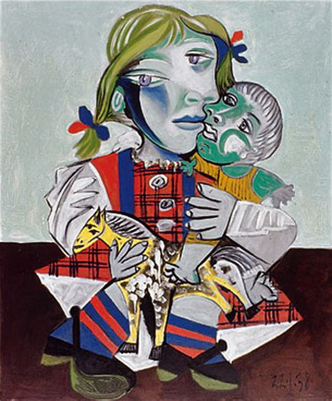 picasso paintings with doll pablo picasso s with doll 1938