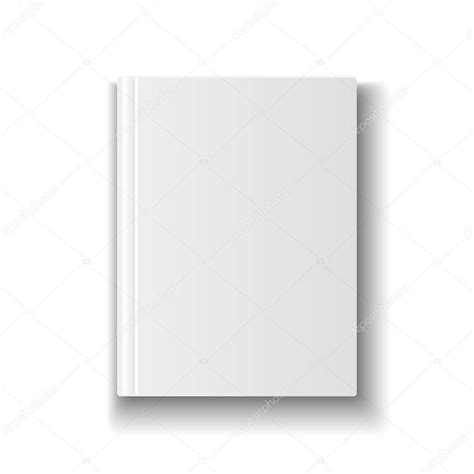 Book Cover Template Illustrator by Blank Book Cover Template On White Background With Soft