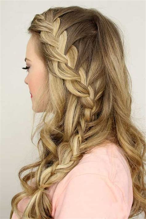 Homecoming Hairstyles Down With Braids | 20 prom hairstyle ideas long hairstyles 2016 2017
