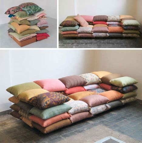 what are couch cushions made of make the bed simple stacked comforters for lazy sleepers