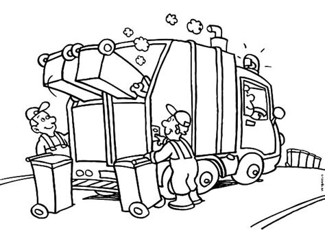 Coloring Page Garbage Truck by Garbage Truck Colouring Pages