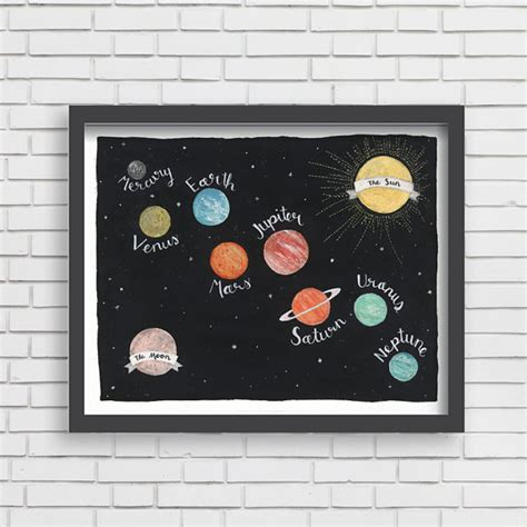 Galaxy Baby Room by Baby Nusery Decor Print Planets Galaxy Design Solar