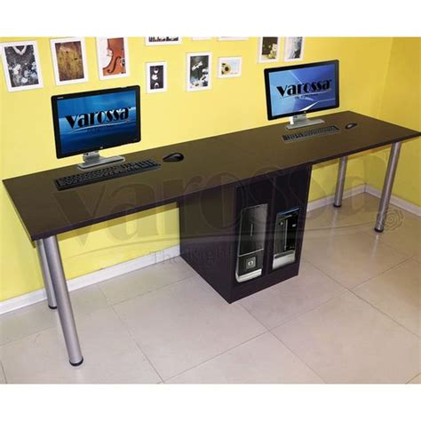 varossa double workstation 2 in 1 computer desk dark