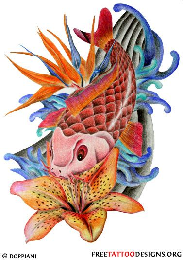 koi flower tattoo designs 40 koi fish tattoos japanese and designs