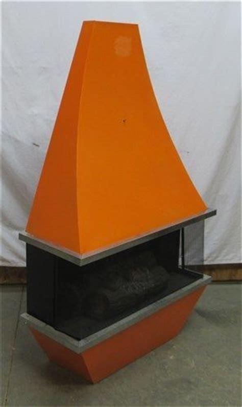 mid century modern electric fireplace orange electric fireplace heater modern space age