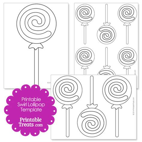 printable swirl lollipop template printable treats com