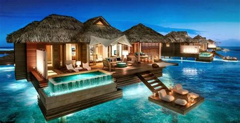 bora bora overwater bungalow all inclusive sandals resorts brings tahiti luxury to montego bay